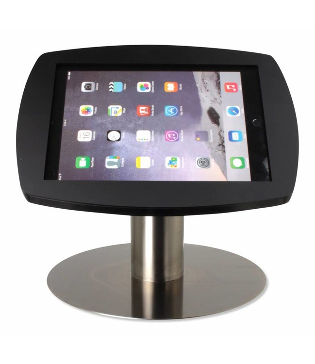 "Bravour iPad kiosk for iPad Air/iPad Pro 9.7"", Desk Stand Lusso, black/stainless steel"