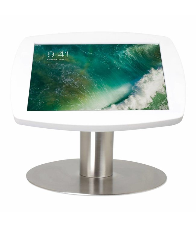 """Bravour iPad kiosk for iPad Pro 10.5"""", Desk Stand Lusso, white/stainless steel"""