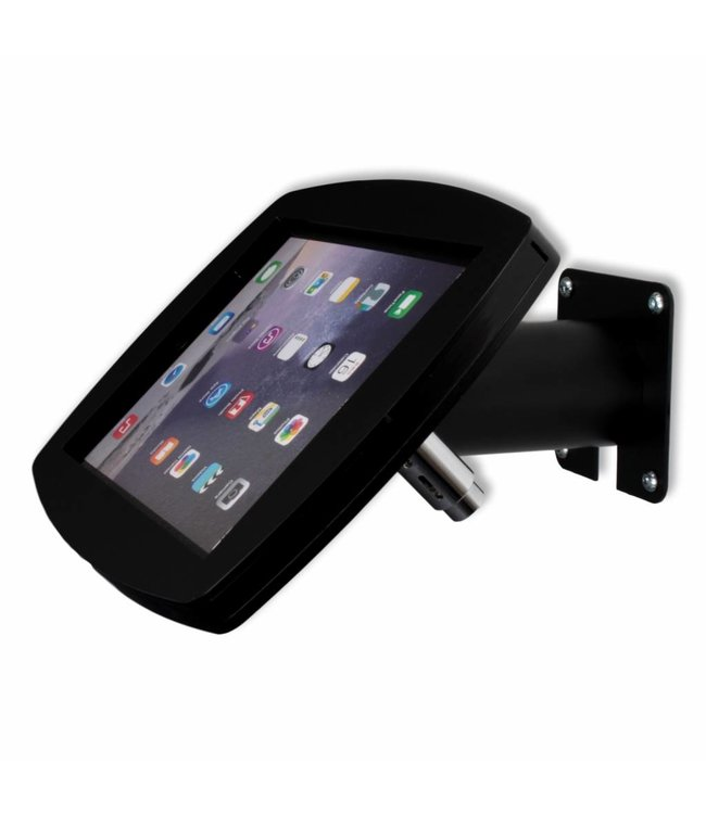"""Bravour iPad kiosk for iPad Air/iPad Pro 9.7"""", for mounting on table or wall, including lock, black"""