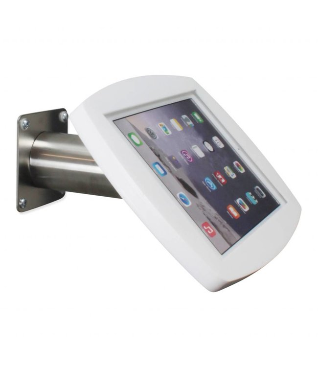 """Bravour iPad kiosk for iPad Air/iPad Pro 9.7"""", for mounting on table or wall, including lock, white/stainless steel"""