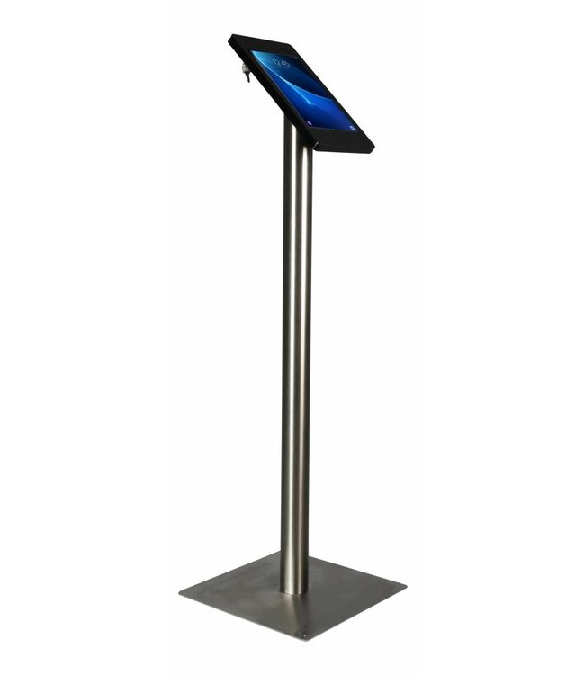 """Bravour Tablet Floor Stand for Galaxy Tab E 9.6"""", Fino, black/stainless steel"""