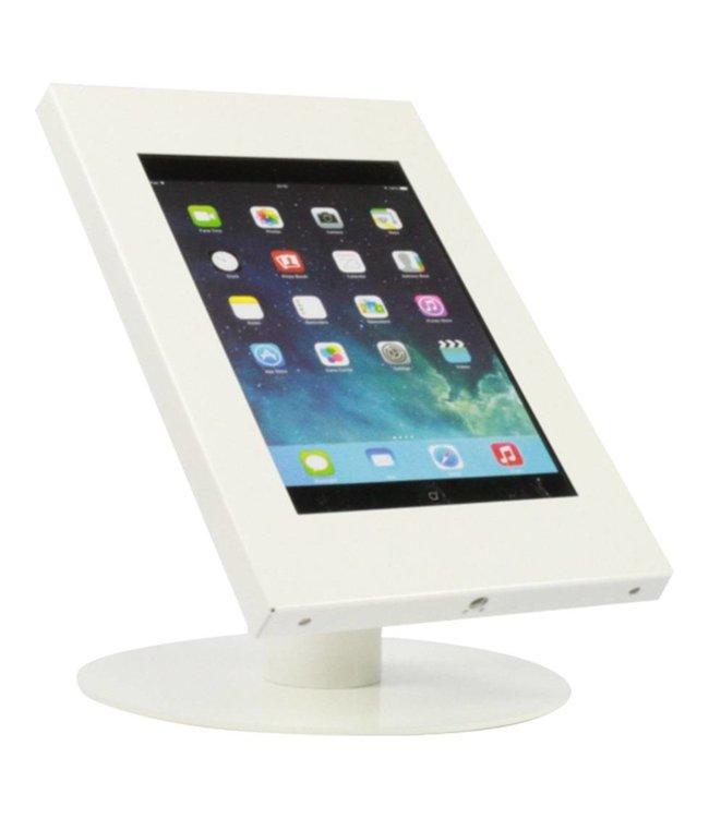Bravour Tablet desk display stand for tablets 9-11 inch, Securo, universal casing, white