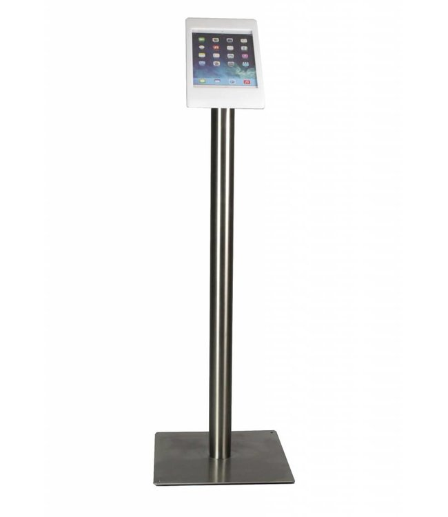 Bravour iPad Floor Stand for iPad Mini, Fino, white/stainless steel