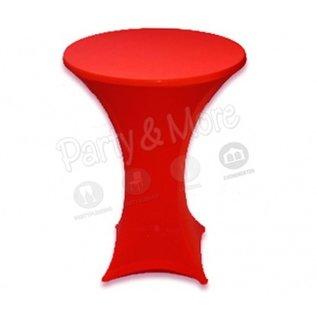 Statafelrok stretch rood met rits
