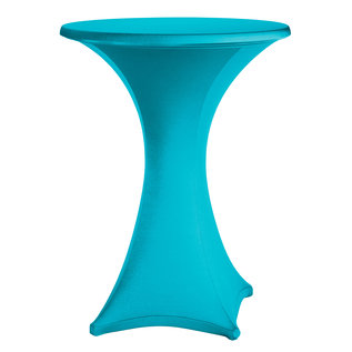 Statafelrok stretch turquoise met rits