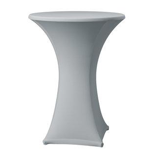 Statafelrok stretch zilver grijs met rits