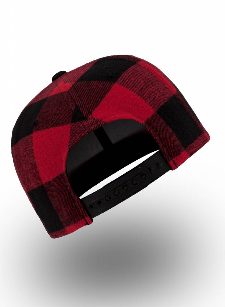 Flexfit by Yupoong Snapback Geruit Black Red
