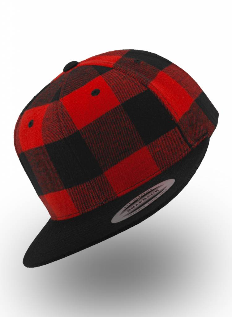 Flexfit by Yupoong Snapback Red Black