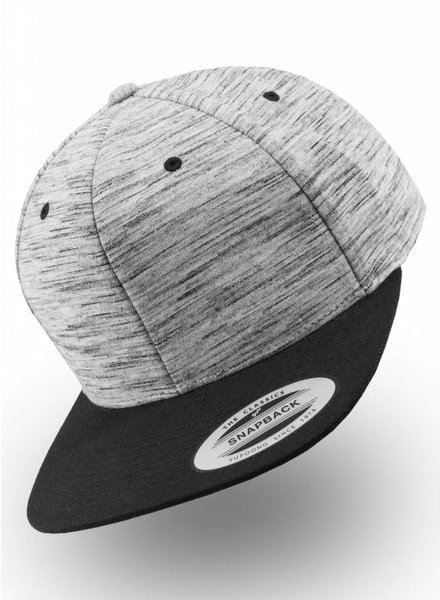 Flexfit by Yupoong Stripes Melange Crown Snapback