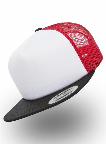 Flexfit by Yupoong Foam Truckers Cap Red White Black