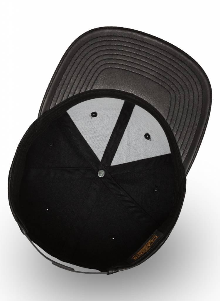 Flexfit by Yupoong Flexfit Snapback schwarz Leder