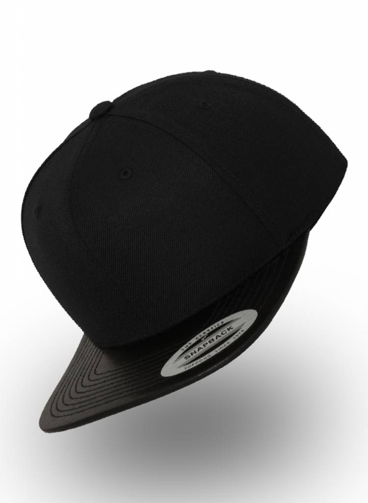 Flexfit by Yupoong Snapback Black Leather Black