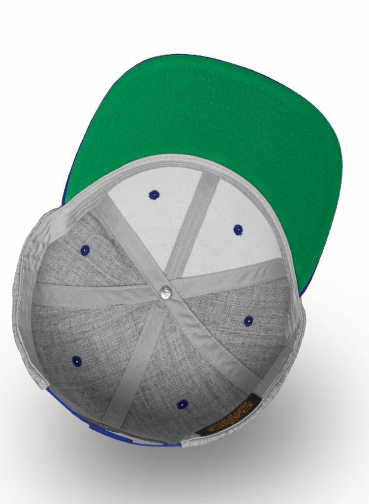 Flexfit by Yupoong gesprenkelt Grau - Royal Snapback