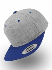 Flexfit by Yupoong Heather Grey - Royal Snapback