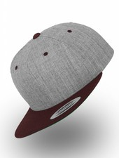 Flexfit by Yupoong Flexfit Snapback Heather Gray / Maroon