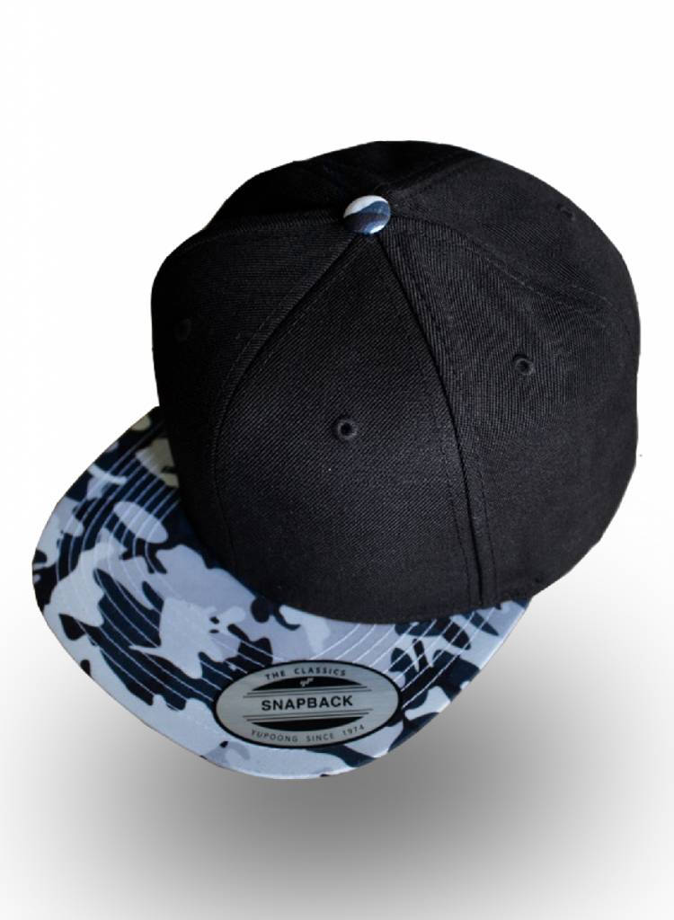 Flexfit by Yupoong Snapback Black Camo Grey