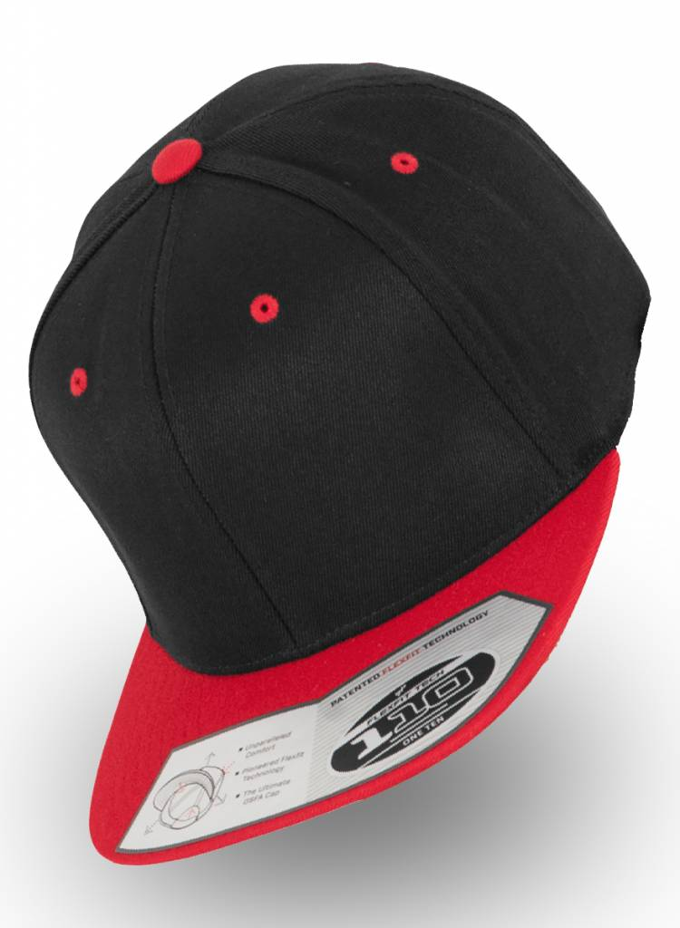 Flexfit by Yupoong Flexfit Snapback 110F Black/Rood
