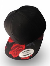 Flexfit by Yupoong Flexfit Black Red Rose Snapback