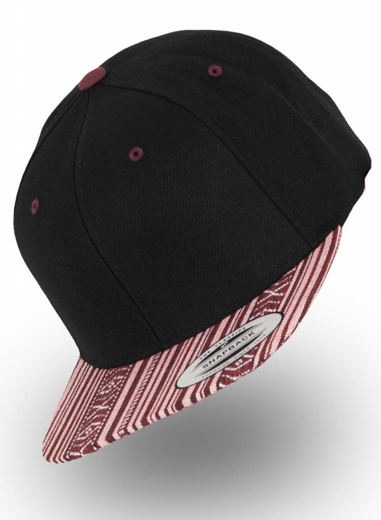 Flexfit by Yupoong Flexfit Snapback Black Aztec Red