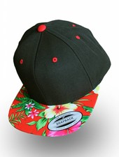 Flexfit by Yupoong Snapback Black Red Flowers