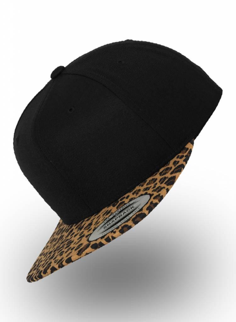 Flexfit by Yupoong Flexfit Snapback Black-Leopard Khaki