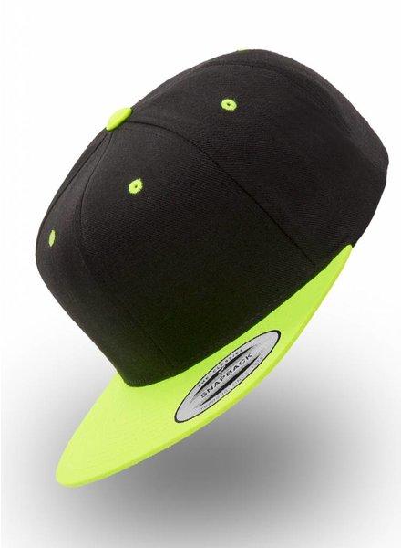 Flexfit by Yupoong Snapback Zwart-Neon-Geel