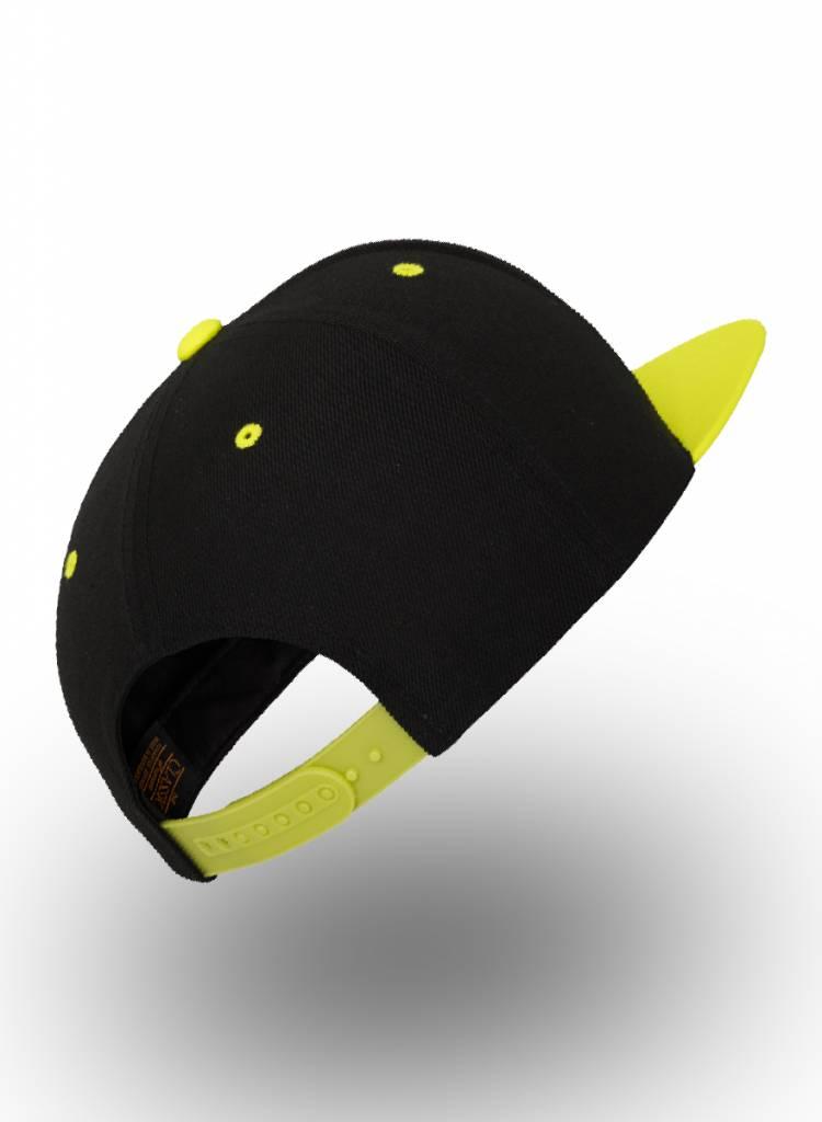 Flexfit by Yupoong Custom Snapback Zwart-Neon-Geel
