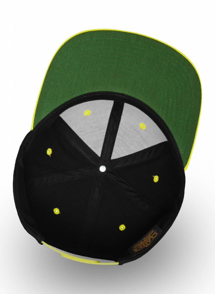 Flexfit by Yupoong Custom Snapback Back Neon-Yellow