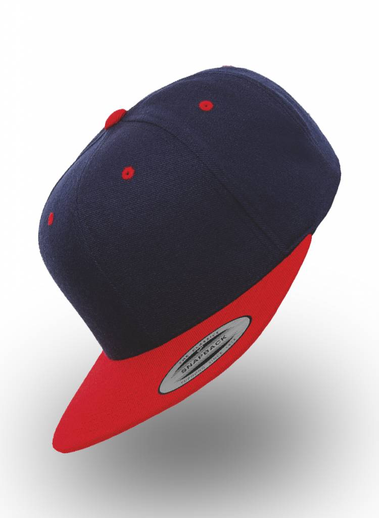 Flexfit by Yupoong Flexfit Snapback Donkerblauw Rood