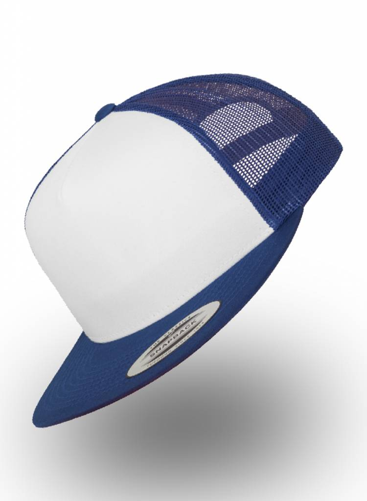 Flexfit by Yupoong Truckers Cap Royal Wit