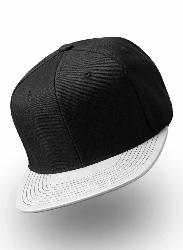 0755be8d Customized snapback cap. Metalic Silver visor