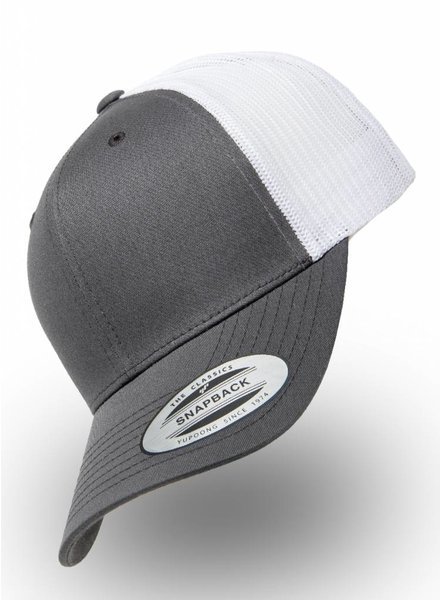 Flexfit by Yupoong Retro Truckers Cap Charcoal Weiss