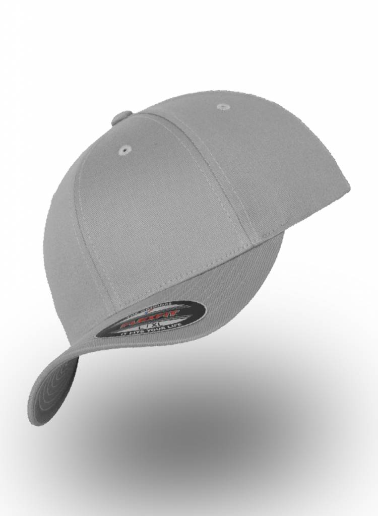 2cee6fb4b Flexfit by Yupoong Baseball Cap Fitted Silver