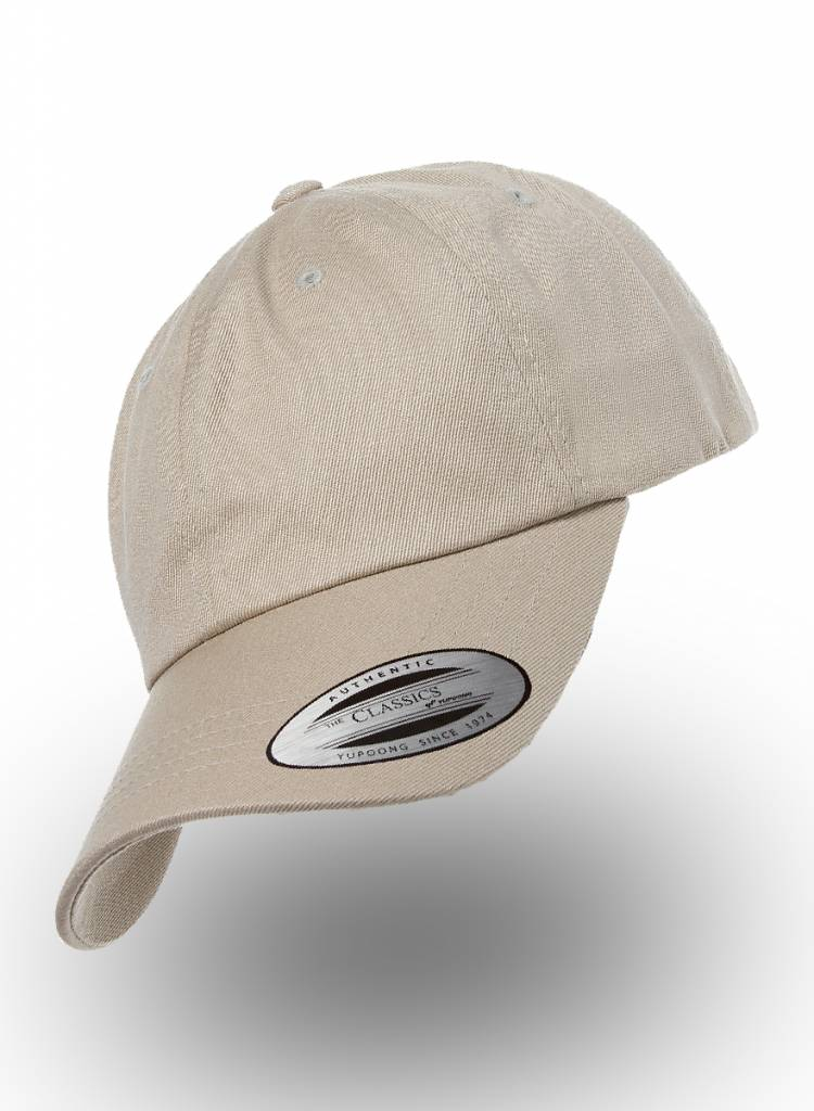 Flexfit by Yupoong Dad Cap with strap  Khaki