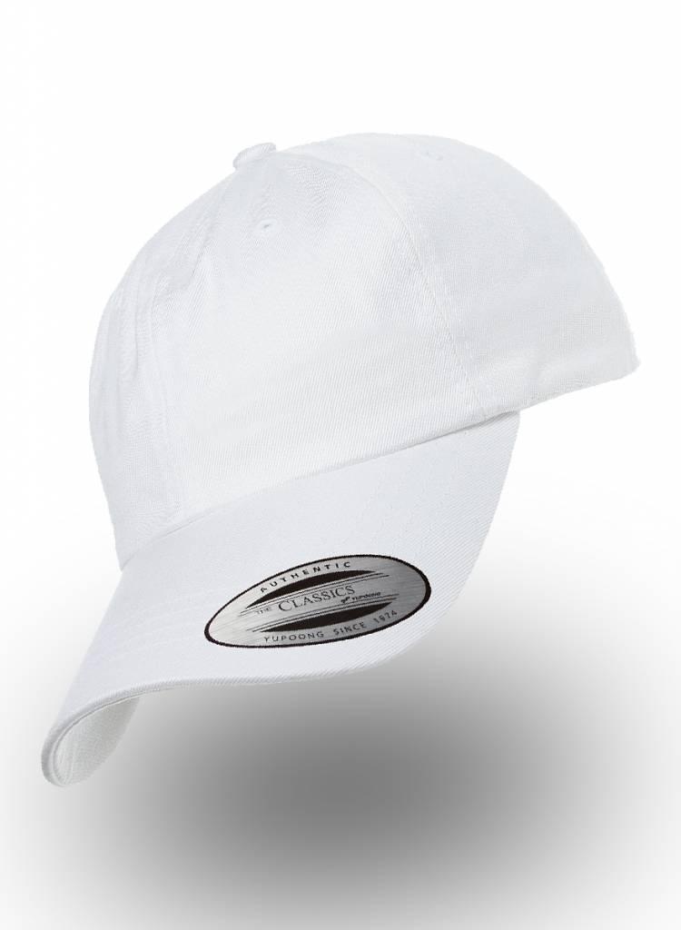 Flexfit by Yupoong Dad Cap met strap white