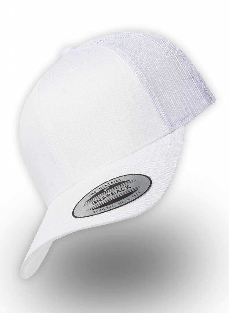 b68a0fd364e6d Flexfit by Yupoong Retro Truckers Cap White - Personalised headwear