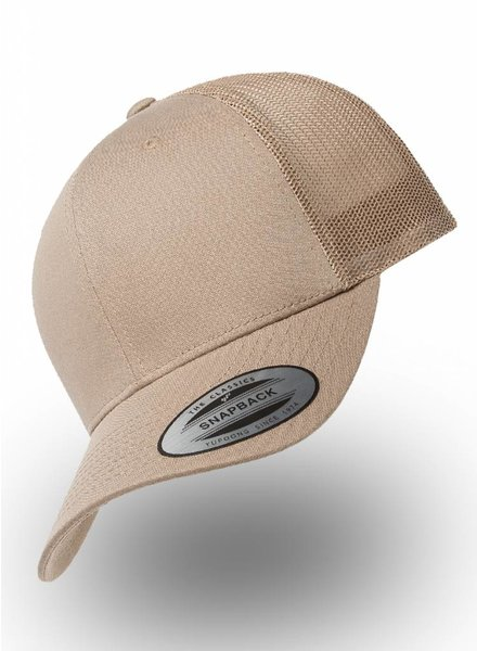 Flexfit by Yupoong Retro Truckers Cap Khaki