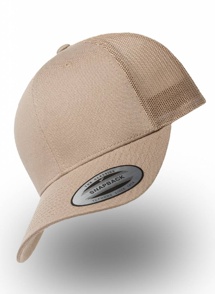 Flexfit by Yupoong Flexfit Retro Truckers Cap Khaki