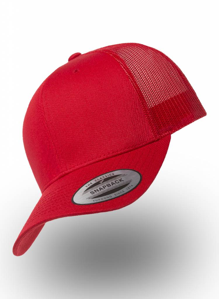 Flexfit by Yupoong Flexfit Retro Truckers Cap Red