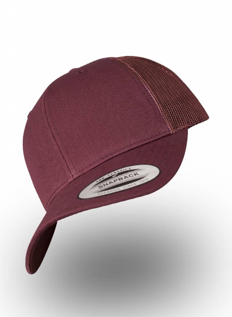 Flexfit by Yupoong Flexfit Retro Truckers Cap Maroon