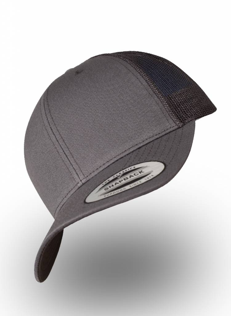 Flexfit by Yupoong Retro Truckers Cap Dark Grey