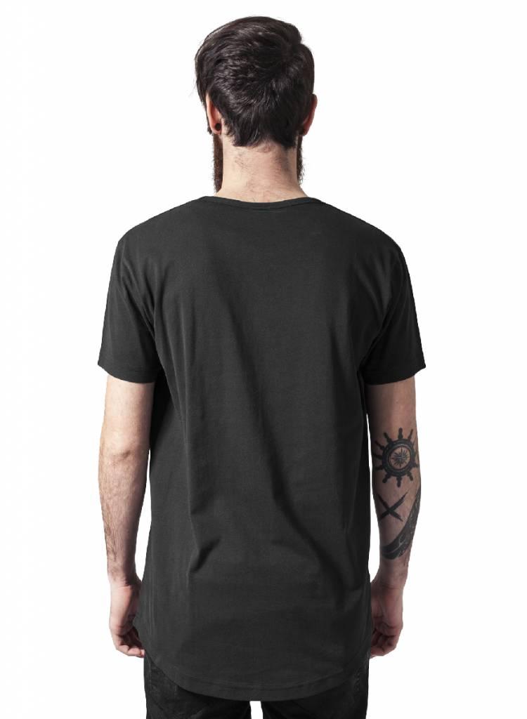 Urban Classics Long T Shirt bedrukken Zwart