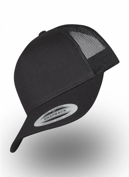 Flexfit by Yupoong 5-panel Truckers Cap Schwarz