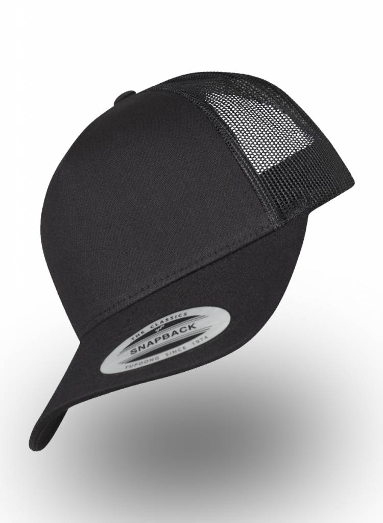 Flexfit by Yupoong 5-panel Truckers Cap Black