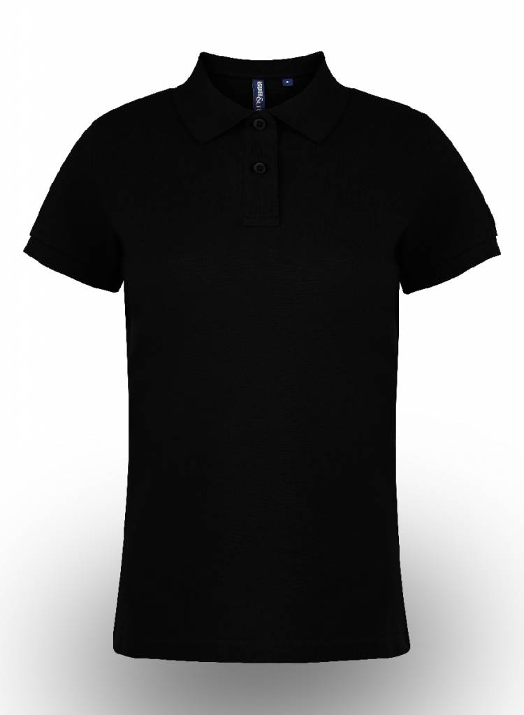 Asquith & Fox Polo Shirt bedrukken Zwart