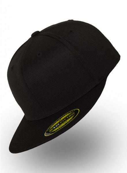Flexfit by Yupoong Fitted Cap Schwarz