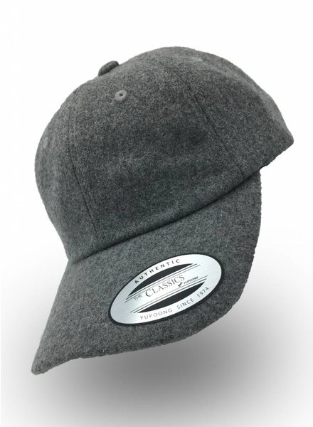 Flexfit by Yupoong Dad Cap Melton Wool Licht Grijs