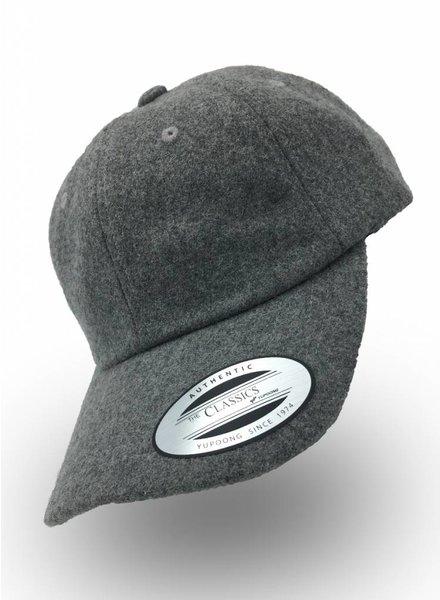 Flexfit by Yupoong Dad Cap Melton Wool Light Grey