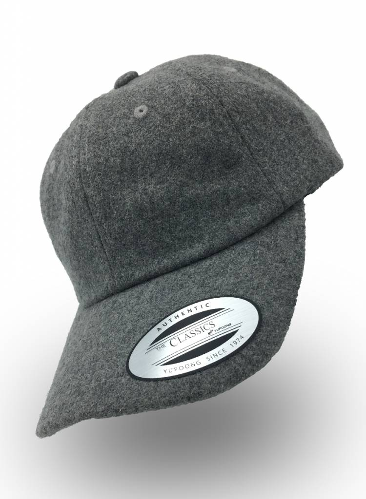 Flexfit by Yupoong Dad Cap Melton Wool Grau