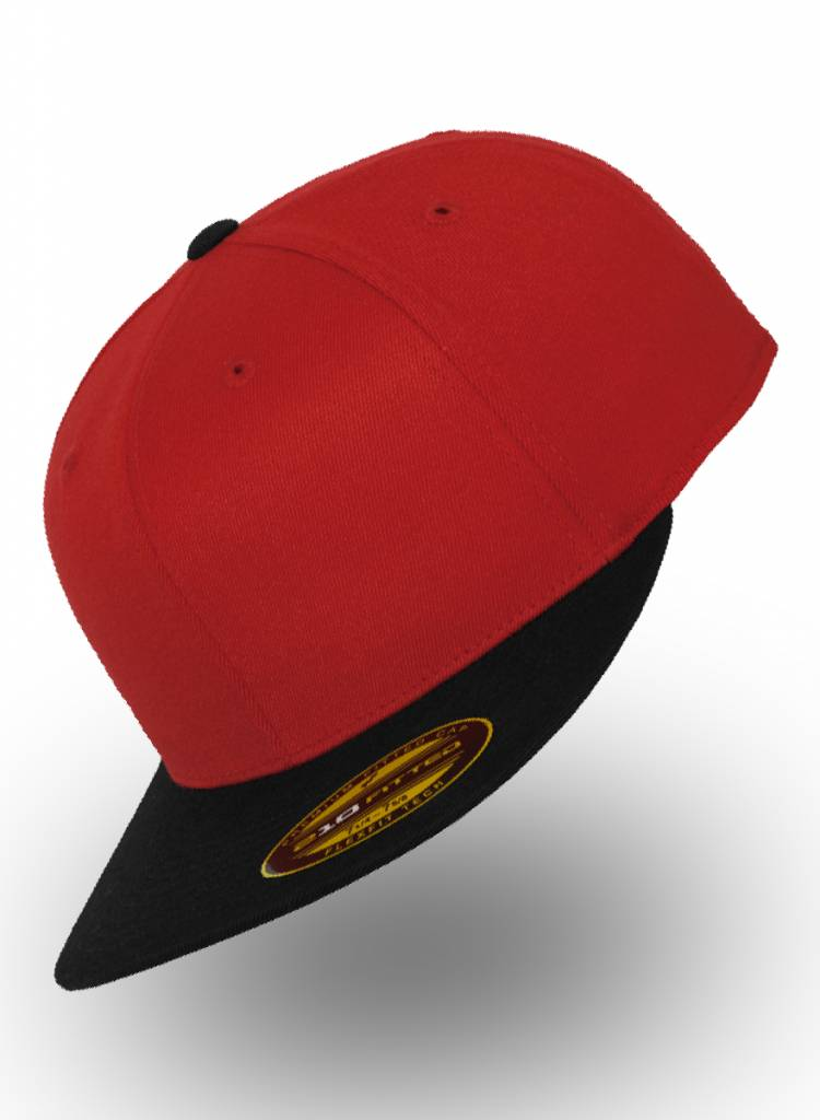 Flexfit by Yupoong Flexfit 210 Fitted Red Black